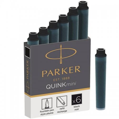 Черные мини картриджи Parker (Паркер) Quink Mini Cartridges Black 6 шт в Нижнем Новгороде