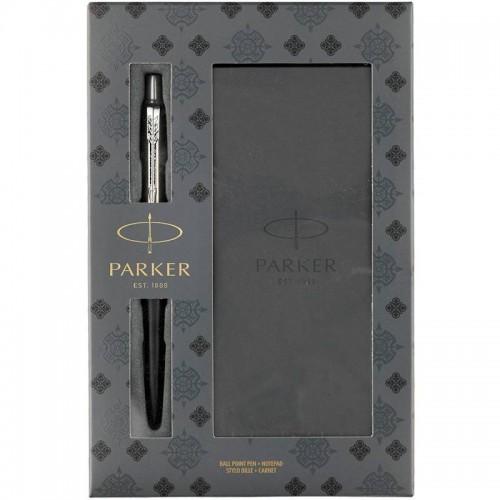 Подарочный набор из шариковой ручки Parker (Паркер) Jotter Core Bond Street Black CT и блокнота в Нижнем Новгороде