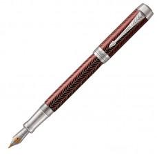 Перьевая ручка Parker (Паркер) Duofold Prestige Centennial Burgundy Chevron CT F