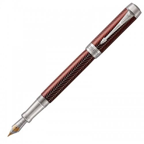 Перьевая ручка Parker (Паркер) Duofold Prestige Centennial Burgundy Chevron CT M в Нижнем Новгороде