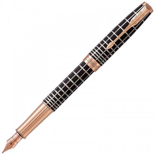 Перьевая ручка Parker (Паркер) Sonnet Premium Brown Rubber PGT F 18k в Нижнем Новгороде