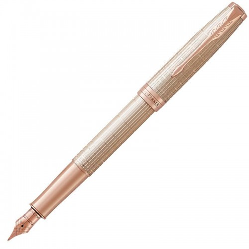 Перьевая ручка Parker (Паркер) Sonnet Luxury Cisele Silver PGT F в Нижнем Новгороде