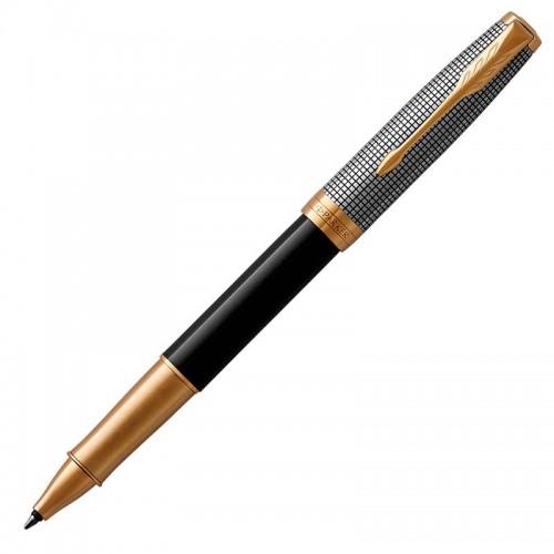Ручка-роллер Parker (Паркер) Sonnet Premium Black Silver GT в Нижнем Новгороде